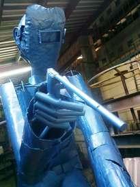 el soldador  monumento al obrero