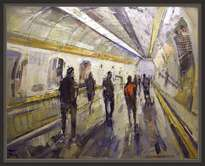 metro-ferrocarril-tunel-paisaje-urbano-pintura-cuadros-pintor-ernest descals