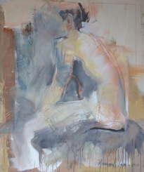 mujer sentada sold