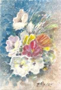 azul floral