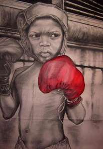 niño boxeador