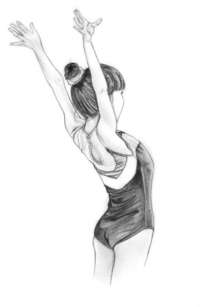 pequeña gimnasta