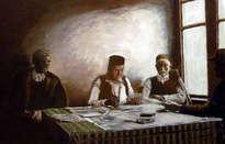 jugadores de cartas griegos
