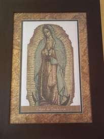cuadro de la virgen de guadalupe en punto de cruz