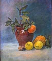 bodegón naranjas