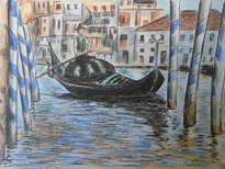 estudio de canal grande de venecia, manet.
