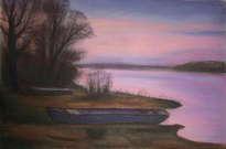el río temprano en la mañana/ dawn by the river