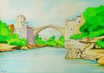 el puente viejo en mostar (stari most)