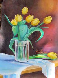 tulipanes en amarillo