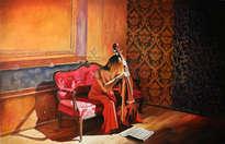 11. mujer de rojo con violonchelo