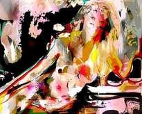 mujer en color