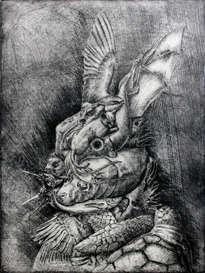 retrato de conejo vestido