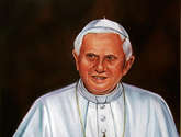 retrato al oleo de benedicto xvi