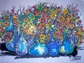 jarrones azules