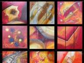 cuadros modernos texturados
