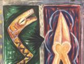 mujer y serpiente