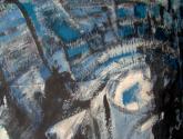 mann im blauen schatten