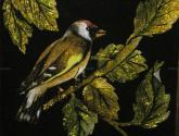 pájaro y hojas