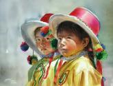 niñas andinas