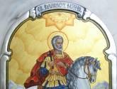 st. mina on horse