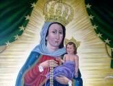 nuestra  virgen del rosario de chiquinquira de aregue.