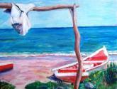 peñero en playa de macanao
