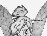 tinker bell original pencil art