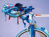 the bike blue  - 100cm x 80cm.