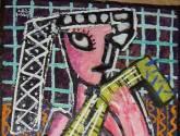 la guitarrista rosa