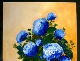 hortensias sobre el mesón