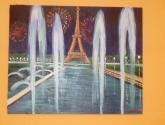 torre eiffel (paris de noche y su magia) de la coleccion maravillas del mundo