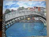 the ha'penny bridge dublin ireland