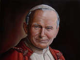 retrato al oleo del papa juan pablo ii