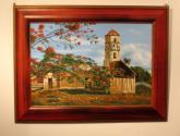 iglesia y framboyán