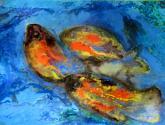 tres peces de colores. drei fische bunt.