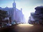 earl;y morning city