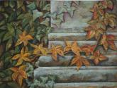 hojas del jardín