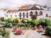 marbella, plaza naranjos.