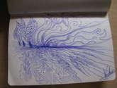boceto paisaje trigo y cielo