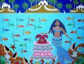 en el mar caribe, yemayá espera una llamada de larga distancia