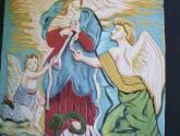 tetagua  py realiza el esgrafiado de la virgen desata nudo