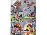 peinture acrylique et collage