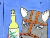 bodegon con mascara de burro