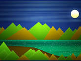 night mountains landscape