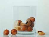 nuts in glass