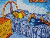 rosi leyendo un libro en la cama