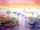 beauty of waterlily and pond