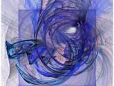 composición en azul y rosa