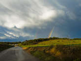 carretera y arcoiris