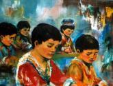 niños afganos